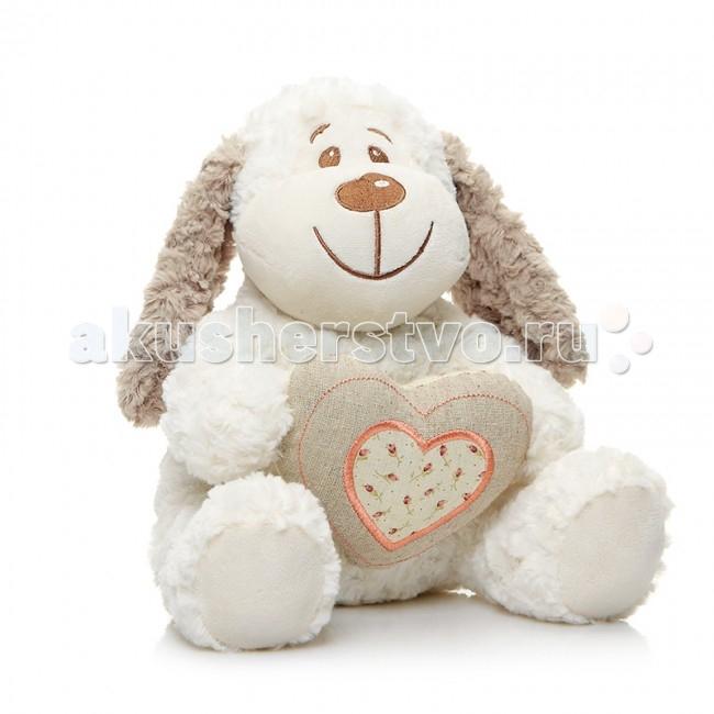 Мягкая игрушка Maxitoys Собака Краф с сердцем 26 смСобака Краф с сердцем 26 смМягкая игрушка Maxitoys Собака Краф с сердцем 26 см от которой ваш ребенок придет в восторг. Она изготовлена из безопасных высококачественных синтетических материалов, которые абсолютно безвредны для ребенка.   Особенности: Модель способствует развитию у детей воображения, усидчивости, тактильной  Компактную и легкую игрушку малыш всегда сможет брать с собой на прогулку. Крепкие швы надежно удерживают набивку игрушки внутри.  Такая очаровательная добродушная собака окажется хорошим подарком не только детям, но и взрослым.  Состав: мех искусственный, трикотажный, волокно полиэфирное, фурнитура из пластмассы.<br>