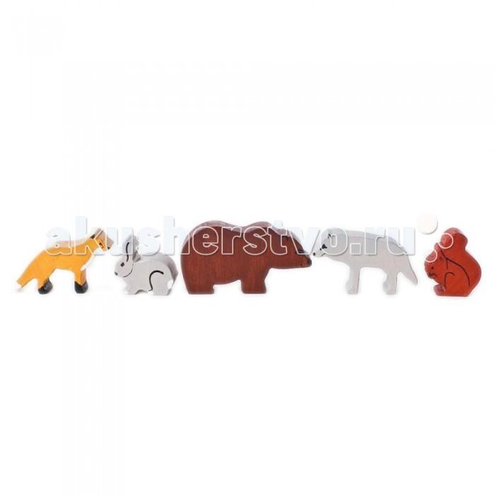 Деревянная игрушка Paremo Игровой набор Дикие животные - 5 фигурокИгровой набор Дикие животные - 5 фигурокДеревянная игрушка Paremo Игровой набор Дикие животные - 5 фигурок. Деревянный набор игрушечных животных разработан для знакомства малышей в игровой форме с животным миром, а также для использования в качестве аксессуаров к классическим сюжетно-ролевым играм (Ферма, Инсценировка сказок), в т.ч. и в детских садиках.  В комплект входит 5 фигурок животных, максимально распространенных в наших широтах: лиса заяц медведь волк белка.<br>
