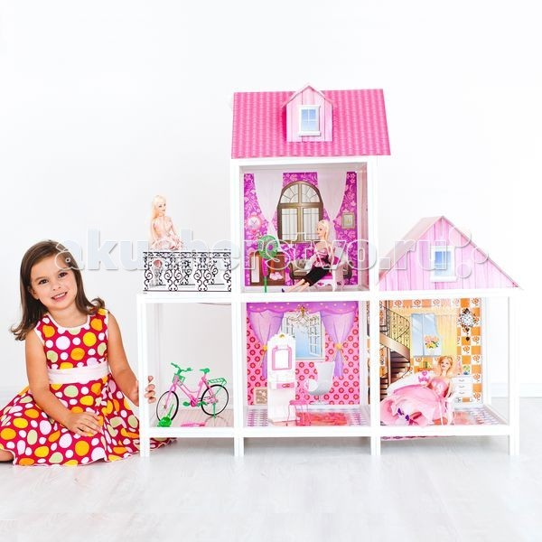 Bettina Кукольный домик для Барби с 3 комнатами