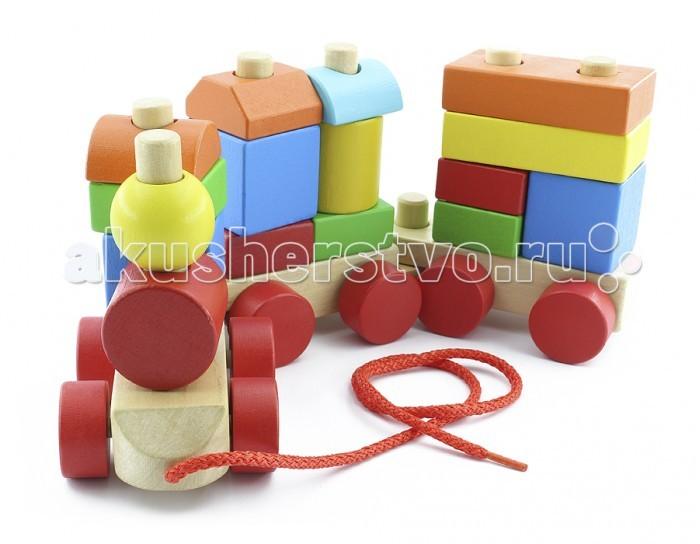 Конструктор МДИ Конструктор-паровозикКонструктор-паровозикДеревянная игрушка МДИ Конструктор-паровозик.  Набор деталей, из которых можно самостоятельно создать деревянный паровозик сортер, будет интересным и увлекательным подарком для каждого ребенка. Он включает в себя множество элементов, которые можно скрепить между собой при помощи специальной деревянной отвертки, через отверстия, которые проделаны в них. Помимо паровоза, малыш имеет возможность создать и другие транспортные средства, а также небольшие домики.   Все детали выполнены и высококачественного дерева, которое обработано шлифовальной машиной, благодаря чему поверхность лишена заноз. А также половинки пропитаны особым составом, предупреждающим появление плесени и гнили. Почти все части конструкции окрашены в основные цвета радуги: красный, желтый, зеленый, синий. Собранный деревянный паровозик сортер, свободно ездит по самым разным поверхностям. Как по ковровому покрытию с длинным ворсом, так и по кафельной плитке.  Набор отличается компактностью, что позволяет брать его с собой на прогулку или в поездку. Благодаря отсутствию острых и мелких частей, малыш может самостоятельно окунуться в процесс игры, а родителям не стоит опасаться за его здоровье. Единственное, что потребуется от родителей – это один раз показать, как нужно пользоваться отверткой. Ее конструкция разработана специально для удобного использования ее дитем.   Анатомическая рукоятка, позволяет руке ребенка не уставать, что позволяет играть довольно долгое время. Для сбора паровоза не нужны никакие дополнительные материалы, поскольку все необходимое находится в наборе. Детали очень прочные и выдерживают большие нагрузки. Также, все элементы легко моются и быстро сохнут. Эта красочная игрушка принесет радость не только детям, но и родителям, которые будут помогать, и объяснять, как обращаться с инструментом. А разнообразные детали позволят придумать множество других развлечений.<br>