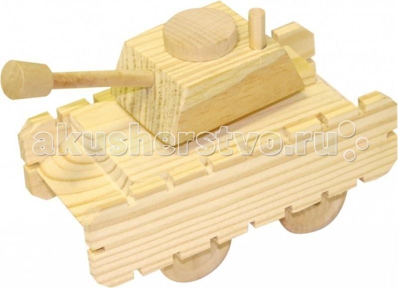 Конструктор МДИ Набор для творчества ТанкНабор для творчества ТанкМДИ Набор для творчества Танк.  Деревянная моделька Танка собирается как конструктор с использованием клея. Готовую игрушку можно расскрасить в любой цвет и на любой вкус. В наборе: краски, кисточка, клей и деревянные детали. Детские игрушки из дерева таят в себе глубокий смысл, это единение с природой, и ваш оберег. Деревянные детские игрушки раскрывают сказочный мир, который живет внутри нас, вместе с ними сказка оживает.<br>