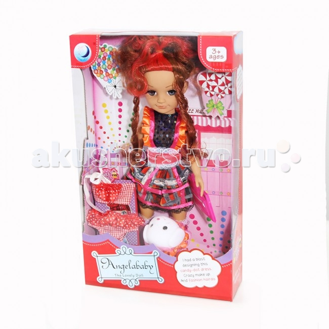 Angelababy Кукла Катя 40 смКукла Катя 40 смКукла Angelababy Катя 40 см с аксессуарами, густыми длинными волосами, которые можно расчесывать и заплетать.   Такая куколка обязательно понравится любой маленькой моднице! Ей можно придумывать новые наряды и делать разные прически.<br>