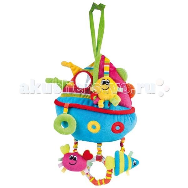 Подвесная игрушка Canpol Цветной океан - лодочка с погремушкой