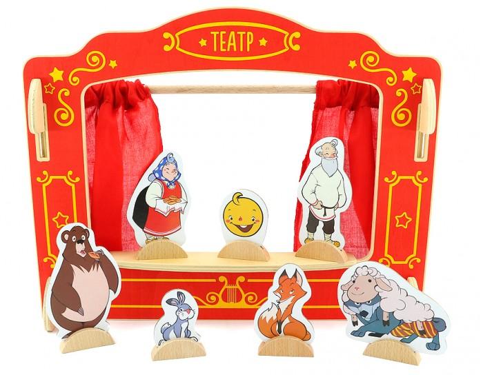 Деревянная игрушка МДИ Кукольный театр Д170Кукольный театр Д170Деревянная игрушка МДИ Кукольный театр.  Большая театральная сцена и 6 пальчиковых кукол. Всем известно, что пальчиковые игры прекрасно развивают мелкую моторику. А для нового спектакля нужна фантазия и еще раз фантазия. Это бесконечная игра - чем больше играем, тем интереснее становится! И конечно при этом отлично развиваются навыки социализации - ведь играть можно в компании и это гораздо интереснее. Игра поможет активизировать речь, развить мелкую моторику.  Размер театра с боковинами 84 х 35 х 1 см Размер кукол 12 см.<br>