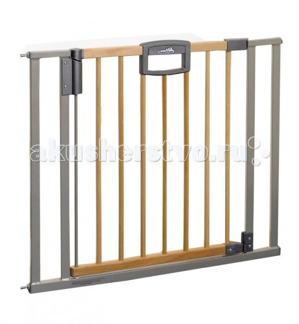 Барьеры и ворота Geuther Ворота безопасности Easy Lock Wood 80,5-88,5х82,5cм