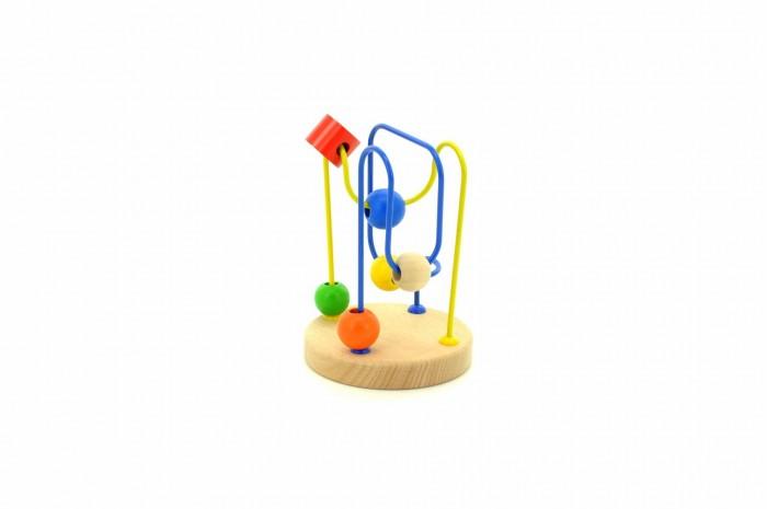 Деревянная игрушка МДИ Лабиринт № 6Лабиринт № 6Деревянная игрушка МДИ Лабиринт № 6.  Лабиринт представляет собой комбинацию из 2 разноцветных проволок, изогнутых в разных плоскостях и закрепленных на деревянном основании. Проволоки нельзя сгибать. На каждой проволоке нанизаны разноцветные деревянные фигурки различной формы. Фигурки можно перемещать по этим проволокам.   По вашему заданию ребенок будет перемещать фигурки заданного цвета по заданной проволоке. Перемещая фигурки, можно научить ребенка считать, познакомить с основными цветами. Игра с таким лабиринтом помогает развитию у ребенка внимания, логического и пространственного мышления, а также моторики пальчиков. Деревянные детали лабиринта изготовлены из экологически чистой древесины.<br>