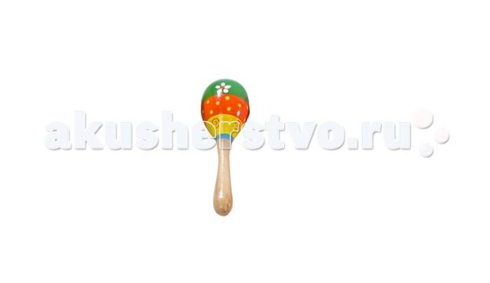 Деревянная игрушка МДИ Маракас малый 1 шт.Маракас малый 1 шт.Деревянная игрушка МДИ Маракас малый.  Маракасы - чудесный музыкальный инструмент с пересыпающимися шариками внутри. Ребенок держит маракасы за ручку и трясет - раздается замечательный шуршащий звук, как у большой погремушки.  Маракасы покрыты стойкими и безопасными красками на водной основе, соответствующими самым высоким санитарно-гигиеническим требованиям.  Игрушку можно грызть.  Цвета в ассортименте.<br>