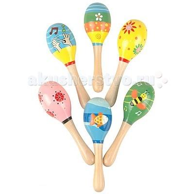 Деревянная игрушка МДИ Маракас среднийМаракас среднийДеревянная игрушка МДИ Маракас средний мин.  Маракасы - древнейший ударно-шумовой инструмент коренных жителей Антильских островов - индейцев таино, разновидность погремушки, издающей при потряхивании характерный мягкий шуршащий звук.  Детские деревянные маракасы - необычный и интересный музыкальный инструмент, который познакомит Вашего ребенка с культурой народов мира. Игрушка прекрасно развивает музыкальный слух, чувство ритма, координацию и концентрацию, моторику, что напрямую влияет на развитие речи, мышления и памяти ребенка. В ассортименте шесть видов различных расцветок.<br>
