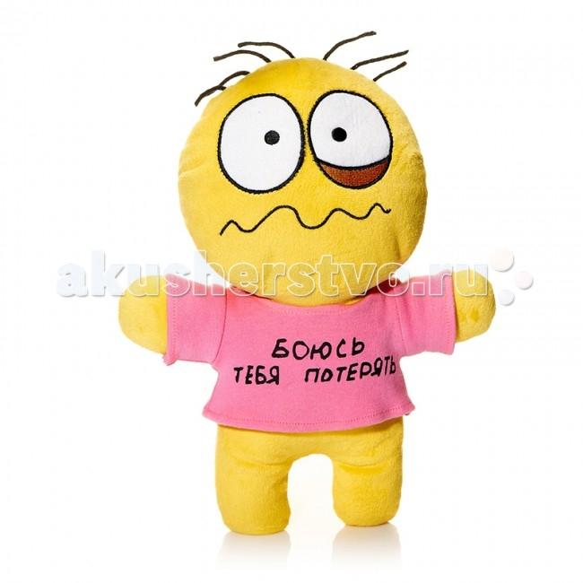 Мягкая игрушка Mr.Smile Смайл Боюсь Тебя Потерять 30 смСмайл Боюсь Тебя Потерять 30 смМягкая игрушка Mr.Smile & Friends Смайл Боюсь Тебя Потерять 30 см от которой ваш ребенок придет в восторг. Она изготовлена из безопасных высококачественных синтетических материалов, которые абсолютно безвредны для ребенка.   Особенности: Модель способствует развитию у детей воображения, усидчивости, тактильной  Компактную и легкую игрушку малыш всегда сможет брать с собой на прогулку. Крепкие швы надежно удерживают набивку игрушки внутри.  Такой очаровательный добродушный смайлик окажется хорошим подарком не только детям, но и взрослым.  Состав: мех искусственный, трикотажный, волокно полиэфирное.<br>
