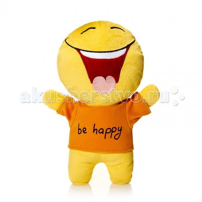 Мягкая игрушка Mr.Smile Смайл Счастье 30 смСмайл Счастье 30 смМягкая игрушка Mr.Smile & Friends Смайл Счастье 30 см от которой ваш ребенок придет в восторг. Она изготовлена из безопасных высококачественных синтетических материалов, которые абсолютно безвредны для ребенка.   Особенности: Модель способствует развитию у детей воображения, усидчивости, тактильной  Компактную и легкую игрушку малыш всегда сможет брать с собой на прогулку. Крепкие швы надежно удерживают набивку игрушки внутри.  Такой очаровательный добродушный смайлик окажется хорошим подарком не только детям, но и взрослым.  Состав: мех искусственный, трикотажный, волокно полиэфирное.<br>