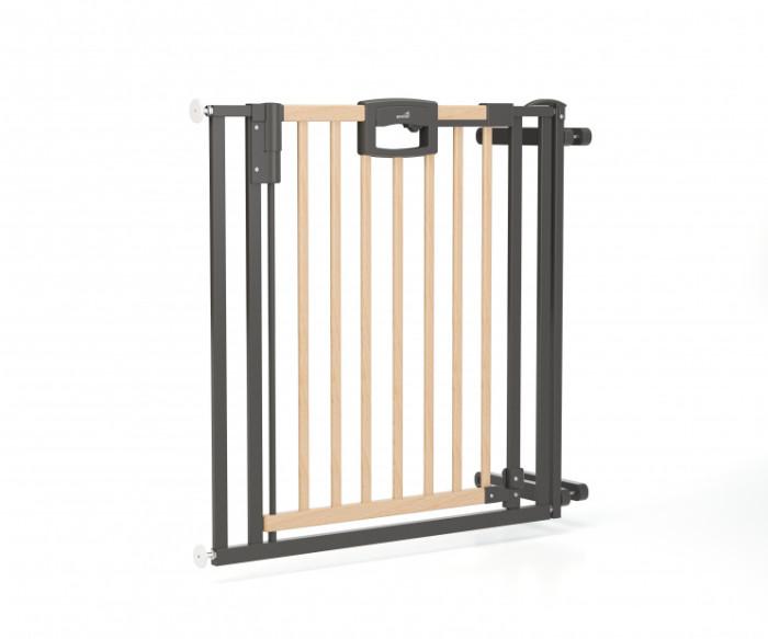 Geuther Ворота EasyLock Wood  84,5 - 92,5 смВорота EasyLock Wood  84,5 - 92,5 смВорота безопасности EasyLock Wood.  Основные характеристики: красивый дизайн и комбинированный натурально-серебряный цвет украсят интерьер любого дома устойчивы, имеют опорное основание в комплекте крепление к стене и в лестничный проем защищает ребёнка от нежелательного падения с лестницы уникальный защитный механизм позволит взрослому легко пройти через ворота, создавая в то же время непреодолимое препятствие для малыша открывается в обоих направлениях Ворота устойчивы, имеют опорное основание, удобный механизм защелкивания, легко устанавливаются без специального крепления. Ширина ворот: от 84,5 до 92,5 см, высота — 81,5 см. Могут быть расширены с помощью дополнительных секций до ширины 129 см  Материал- дерево/металл.<br>