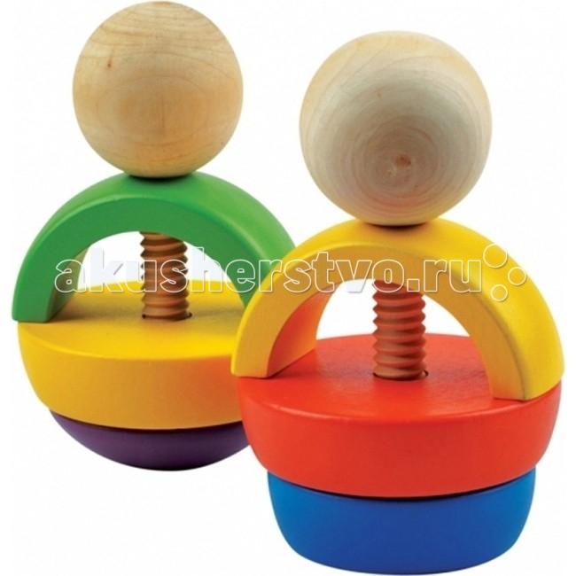 Деревянная игрушка МДИ Набор для развития комбинаторикиНабор для развития комбинаторикиДеревянная игрушка МДИ Набор для развития комбинаторики.  Яркий комбинаторик - пестрая и увлекательная игрушка-конструктор. Этот конструктор состоит из 10 элементов: 2 стержня с резьбой и расширенным низом, два шара с резьбой, две половинки усеченного конуса различных диаметров с отверстием внутри, половина шара, разрезанная на две части с отверстиями внутри, две половинки обода с отверстиями внутри.   Избранные цвета комбинаторика: натуральное дерево, синий, сиреневый, зеленый, желтый, красный. Имея такой набор разнообразных деревянных элементов, можно собирать различные виды забавных фигурок. Из Яркого комбинаторика могут получиться две различные неваляшки, матрешки и светильника.  Техника сбора неваляшек 1-й вариант.Берется штырь с резьбой, надевается на него две части полушария, снизу куполообразный, затем надевается половинка обруча полукругом к верху. На оставшуюся часть штыря навинчивается шар 2-й вариант.На штырь с резьбой навинчивается две половинки обруча таким образом, чтобы сложился целый обруч. Сверху конструкция закрепляется шаром.  Техника сбора матрешек Берется штырь с резьбой, на который накручиваются две половинки усеченного конуса основанием вверх. Сверху - две части половины шара и, наконец, голова матрешки Нижняя часть матрешки такая же, как и в первой матрешки, но основа конуса накрывается половинкой обруча таким образом, чтобы два конца части обруча соприкасались с основой усеченного конуса. Сверху накручивается шар. Техника сбора светильника: 1-й способ. На штырь накручиваются две части половины шара до упора, куполообразной частью вверх. Затем, до средины штыря, накручивается половинка обруча концами вверх, а сверху шар. 2-й способ. Отличается от первого нижней частью – накручиваются две части усеченного конуса с соприкосновением оснований.<br>
