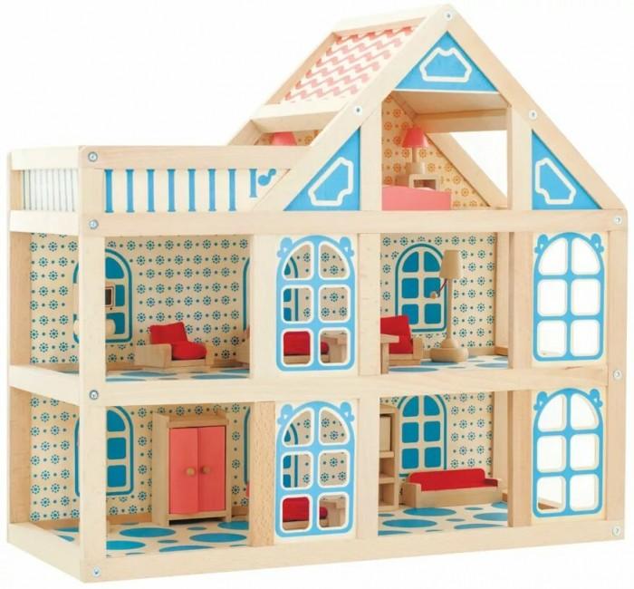 МДИ Кукольный домик 3 этажаКукольный домик 3 этажаДеревянная игрушка МДИ Кукольный дом - 3 этажа.  Кукольный домик 3 этажа – высококачественная деревянная игрушка. Такой домик станет первой детской недвижимостью, счастливым владельцем которой может стать ребенок, начиная с трехлетнего возраста. Родителей порадует отличная обработка деталей. Добавьте кукольную мебель и маленькие фигурки жителей, и в трехэтажном особняке забурлит жизнь.   Эта конструкция позволит ребенку и его друзьям разыгрывать сюжетные игры, а родителям не волноваться о безопасности своих детей. Лучшего подарка для девочки вам не отыскать! Внимание: мебель и куклы не входят. Дополнительно можно приобрести еще персонажей, чтобы игрушек хватало ребенку и его друзьям.<br>