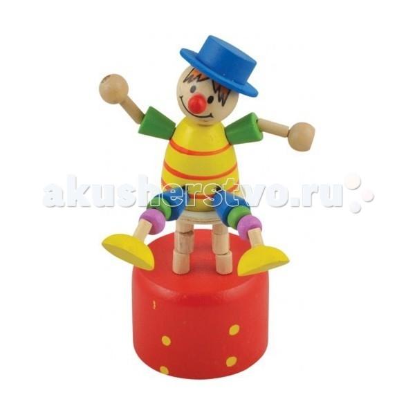 Деревянная игрушка МДИ Дергунчик Клоун на стулеДергунчик Клоун на стулеДеревянная игрушка МДИ Дергунчик Клоун на стуле 12 шт. в упаковке.  Детские игрушки из дерева таят в себе глубокий смысл, это единение с природой, и ваш оберег. Деревянные детские игрушки раскрывают сказочный мир, который живет внутри нас, вместе с ними сказка оживает. Дергунчик покрыт стойкими и безопасными красками на водной основе, соответствующими самым высоким санитарно-гигиеническим требованиям.<br>