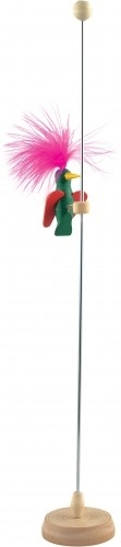 Деревянная игрушка МДИ Дятел - 1 шт.Дятел - 1 шт.Деревянная игрушка МДИ Дятел - 1 шт.  Удивительная игрушка привлекает внимание окружающих. Основанием служит деревянная подставка, к которой прикреплен металлический стержень. На шесте расположился забавный и смешной дятел, с розовым пушистым хохолком. Опуская и поднимая птичку, Вы услышите характерный стук клювом.   На верху имеется защитный деревянный шарик, который не дает выпрыгнут дятлу. Перья натуральные. Игра развивает мелкую моторику рук, слуховое восприятие и усидчивость. Игрушка гладкая, приятная на ощупь и не имеет «заусениц». Упаковка: полиэтилен.<br>