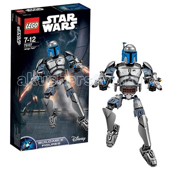 Конструктор Lego Star Wars 75107 Лего Звездные Войны Джанго ФеттStar Wars 75107 Лего Звездные Войны Джанго ФеттКонструктор Lego Star Wars Звездные Войны Джанго Фетт - является бесстрашным охотником за головами. Теперь его можно смоделировать с помощью увлекательного конструктора от Лего Звезные воины.  Превосходно выполненная фигурка со множеством подвижных сочленений порадует любого поклонника культовой космической саги. Досконально проработанные броня, оружие и аксессуары, идеальная подгонка сборных деталей модели придает фигурке реалистичный вид и поразительное сходство с реальным персонажем фильма.   Этот великолепный экземпляр по праву займет достойное место в любой коллекции любителей киноэпопеи Звездные войны.  Количество деталей: 85<br>