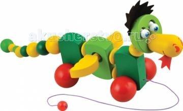 Каталка-игрушка МДИ ДракончикДракончикДеревянная игрушка МДИ Каталка - дракончик.   Забавная деревянная каталочка для деток, которые делают свои первые шажки. Игрушка не только повеселит кроху забавным дизайном, но и поможет ножке ступать тверже по полу. Благодаря каталке, ваш малыш научится быстрее ориентироваться в пространстве, связывать свои действия с движением предмета.  Шнурок каталки на конце с шариком для удобства маленькой ручки. Яркие цвета любимого персонажа детских мультов и сказок не оставят равнодушными ни одного ребенка. Во время езды он издает звуки и машет крылышками<br>
