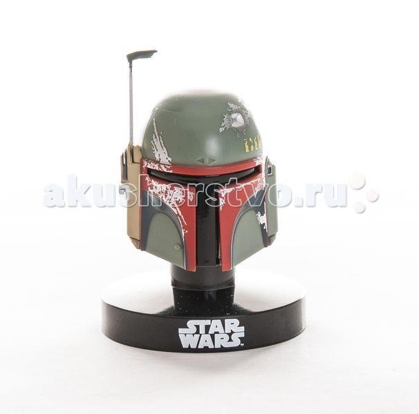 Star Wars Bandai Звездные Войны Шлем на подставке Боба Фетт 6,5 см