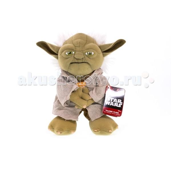 Мягкая игрушка Star Wars Звездные войны Йода плюшевый со звукомЗвездные войны Йода плюшевый со звукомМягкая игрушка Star Wars Звездные войны Йода плюшевый со звуком - желанный выбор для любого поклонника культовой космической саги, независимо от возраста!  Игрушка оснащена электронным устройством, воспроизводящим фразы из фильма Звёздные войны голосом магистра Йоды на английском языке.  Для создания игрушки использованы качественные, экологические чистые, гипоаллергенные материалы, безопасные для здоровья детей.  Внимание! Игрушку нельзя стирать!<br>