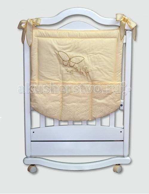 Labeille Карман FarfallaКарман FarfallaКарман станет отличным и незаменимым помощником для мам.  Он легко и удобно крепится на кровать, при необходимости так же легко снимается.  Довольно вместительные размеры позволяют хранить в нем самые необходимые предметы для ухода за малышом.  Привлекательный дизайн и нежная расцветка позволяет гармонично вписаться в интерьер любой детской комнаты.<br>