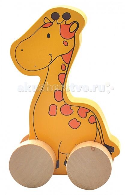 Каталка-игрушка МДИ ЖирафЖирафДеревянная игрушка МДИ Каталка- жираф.  Каталка от компании МДИ - деревянная игрушка для малышей с самого нежного возраста. Развивающая игрушка предназначена для развития у ребенка с самого раннего возраста мелкой моторики, логики, усидчивости, ощущения цвета и формы. Деревянные детали гладко отшлифованы, без заусениц, заноз и сучков. Лакокрасочный состав окрашенных деталей химически безвреден. Продукт экологичен, полностью отсутствуют химические добавки.<br>