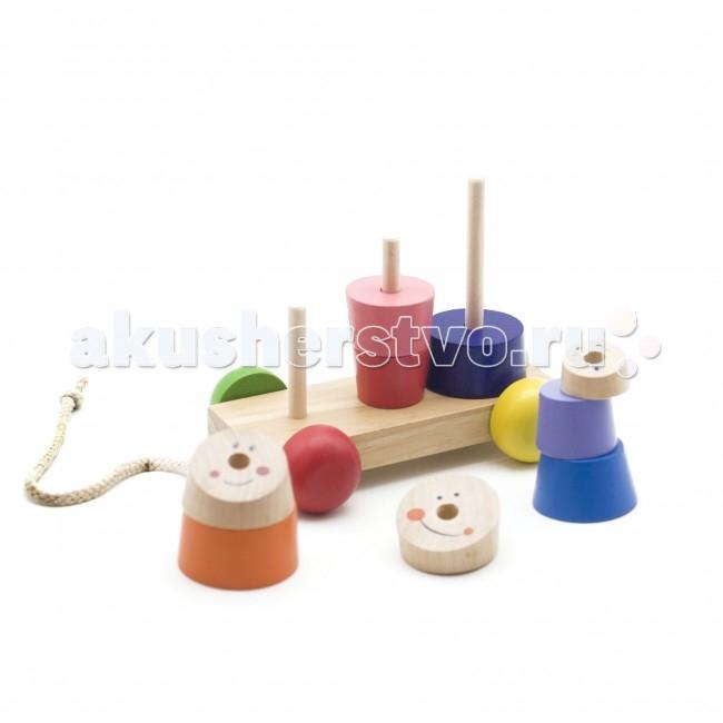 Каталка-игрушка МДИ с пирамидками