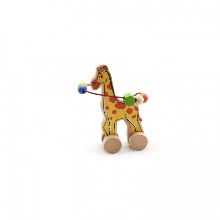 Каталка-игрушка МДИ Лабиринт-каталка ЖирафЛабиринт-каталка ЖирафДеревянная игрушка МДИ Лабиринт-каталка Жираф.  Весьма красочная, многофункциональная развивающая игра каталка и в то же время путаница - игра с целью формирования мелкой моторики, занятия мускул кисти и отработки кругового перемещения, готовимся писать. Взрослых игра расслабляет и убирает перенапряжение. Мелкие детали никак не снимаются, что делает игрушку безопасной для Вашего малыша.  Полезно знать: Этот набор выполнен из качественных материалов по европейским стандартам и покрыт специальной краской на водной основе, которая абсолютно безопасна для вашего малыша. Производитель использует только экологически чистую новозеландскую сосну для производства своих игрушек.<br>
