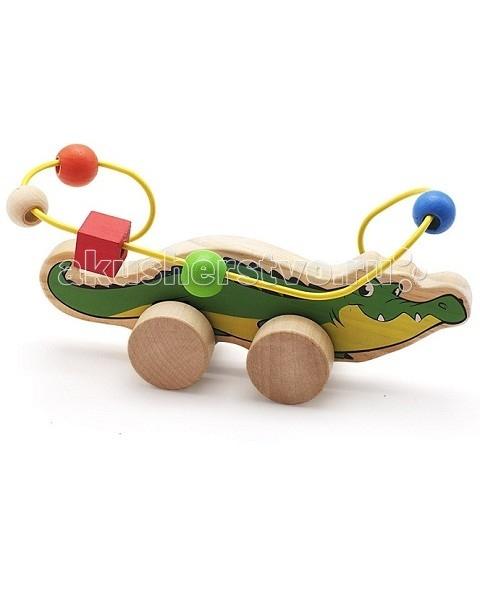 Каталка-игрушка МДИ Лабиринт-каталка Крокодил