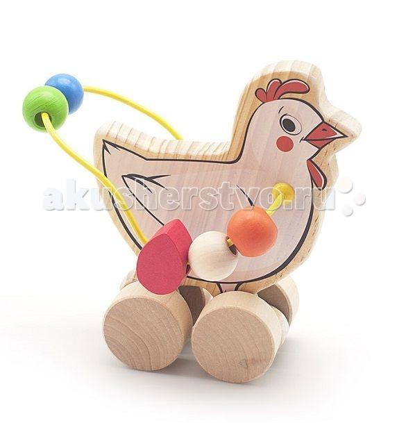 Каталка-игрушка МДИ Лабиринт-каталка КурицаЛабиринт-каталка КурицаДеревянная игрушка МДИ Лабиринт-каталка Курица.  Весьма красочная, многофункциональная развивающая игра каталка и в то же время путаница - игра с целью формирования мелкой моторики, занятия мускул кисти и отработки кругового перемещения, готовимся писать. Взрослых игра расслабляет и убирает перенапряжение. Мелкие детали никак не снимаются, что делает игрушку безопасной для Вашего малыша.  Полезно знать: Этот набор выполнен из качественных материалов по европейским стандартам и покрыт специальной краской на водной основе, которая абсолютно безопасна для вашего малыша. Производитель использует только экологически чистую новозеландскую сосну для производства своих игрушек.<br>
