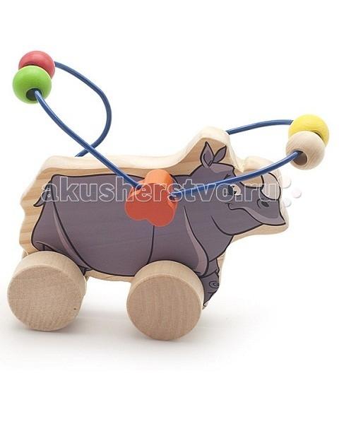 Каталка-игрушка МДИ Лабиринт-каталка Носорог