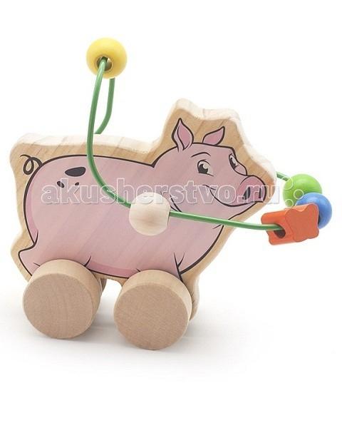 Каталка-игрушка МДИ Лабиринт-каталка Свинья