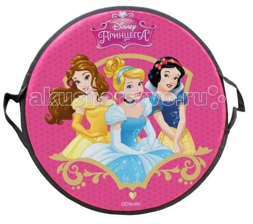 Ледянка Disney Принцессы 52 смПринцессы 52 смЛедянка Disney Принцессы 52 см удобно брать с собой, и при этом позволяют кататься практически с любых горок. Изготовлена из прочного вспененного пластика. Прорези для рук позволят не упасть при спуске с крутых горок. Яркий рисунок будет долго держаться даже при интенсивном катании.   Максимальная нагрузка: 80 кг Размер: 52х52х5 см<br>