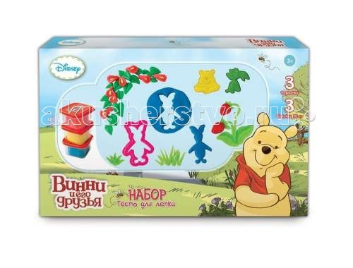 Disney Набор теста для лепки Winnie the Pooh Т57456 3 цвета