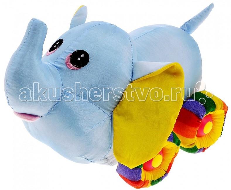 Мягкая игрушка Tongde слоненок Радужный транспортслоненок Радужный транспортЭтот милый слоненок подарит вашему ребенку массу удовольствия за игрой. Изделие выполнено из приятных на ощупь и очень мягких материалов, безвредных для малыша. Движение игрушки сопровождается звуковыми эффектами.   С игрушкой можно играть как дома, так и в садике. Данная модель способствует развитию у детей воображения, тактильной чувствительности и мелкой моторики. Ваш ребенок часами будет играть с игрушкой, придумывая различные истории.   Необходимо купить 3 батарейки типа АА 1,5V (в комплект не входят). Размеры: 22 х 15 х 14 см Размер упаковки: 26 x 19 x 18 см Вес в упаковке: 460 г<br>