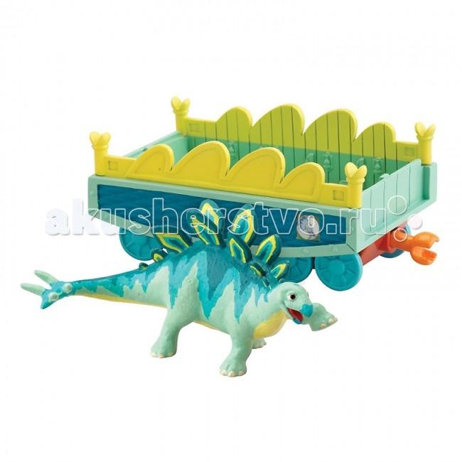 Tomy Набор Поезд динозавров Морис с вагончикомНабор Поезд динозавров Морис с вагончикомВ набор входят фигурка динозавра Морис и прицепной вагончик, который может присоединяться к другим элементам железной дороги из серии игрушек Поезд динозавров.   Игровой набор содержит открытый вагончик, который может присоединяться к Поезду Динозавров, и фигурку динозавра Морис. Размер динозавра: 6 см. Подходит для игры с различными фигурками персонажей Поезда Динозавров. Размер упаковки (ДхШхВ): 17х18х7 см  Мультсериал «Поезд Динозавров» - о приключениях динозаврика Бадди и его друзей завоевал фантастическую популярность среди детей по всему миру. На удивительном поезде динозавров главный герой Бадди отправляется в меж временное путешествие, чтобы исследовать древний мир и познакомиться с другими видами этих замечательных животных.<br>
