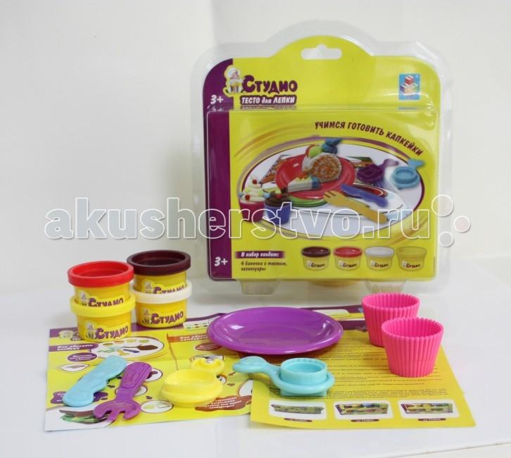 1 Toy Набор теста для лепки Кексы 4 цвета от Акушерство