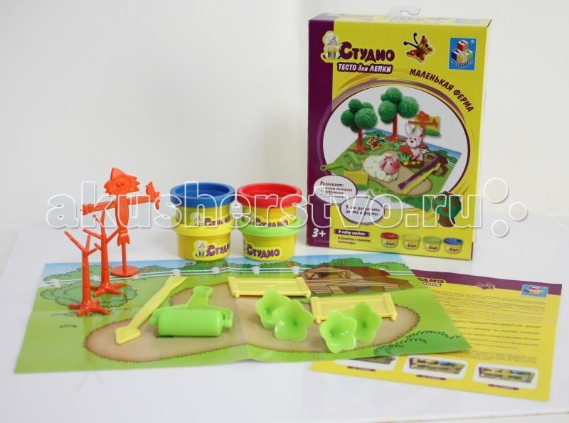 1 Toy Студио Набор теста для лепки Маленькая ферма 4 цвета