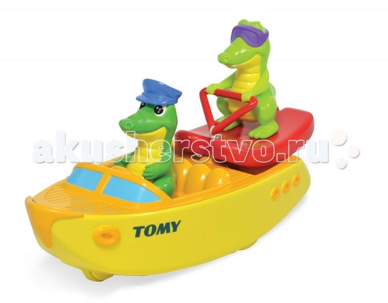 Tomy Игрушка для ванны Крокодил на водных лыжах