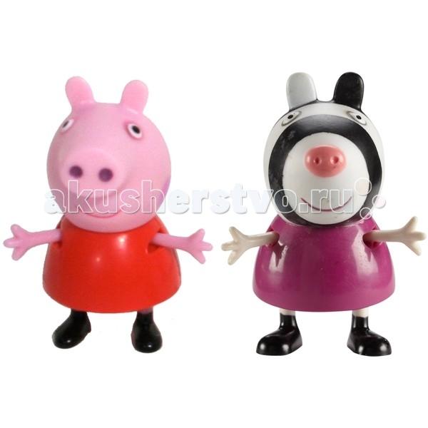Peppa Pig Игровые фигурки Пеппа и ЗоиИгровые фигурки Пеппа и ЗоиPeppа Pig Игровые фигурки Пеппа и Зои – это отличная возможность для малышей погрузиться в мир приключений любимых персонажей.  С забавными игрушками из серии «Peppa Pig» веселые мультфильмы оживут прямо у вас дома, а малыши станут участниками увлекательных приключений Пеппы и ее друзей.  Особенности:  2 фигурки, которые могут сидеть, стоять, двигать ручками и ножками. Средняя высота фигурок – 5 см.  Игрушки изготовлены из безопасного пластика.  Товар сертифицирован.<br>