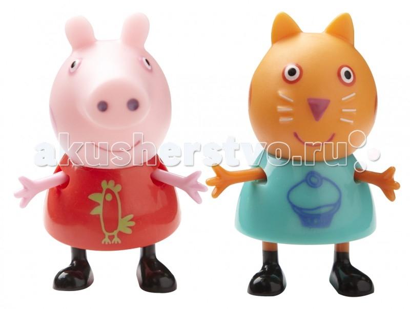 Peppa Pig Игровой набор Пеппа и КендиИгровой набор Пеппа и КендиPeppа Pig Игровой набор Пеппа и Кенди – это отличная возможность для малышей погрузиться в мир приключений любимых персонажей.  С забавными игрушками из серии «Peppa Pig» веселые мультфильмы оживут прямо у вас дома, а малыши станут участниками увлекательных приключений Пеппы и ее друзей.  Особенности:  2 фигурки, которые могут сидеть, стоять, двигать ручками и ножками. Средняя высота фигурок – 5 см.  Игрушки изготовлены из безопасного пластика.  Товар сертифицирован.<br>