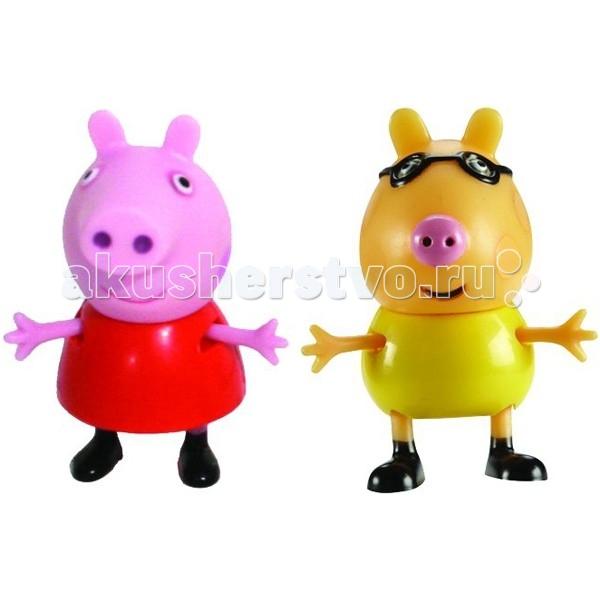 Peppa Pig Игровой набор Пеппа и ПедроИгровой набор Пеппа и ПедроPeppа Pig Игровой набор Пеппа и Педро – это отличная возможность для малышей погрузиться в мир приключений любимых персонажей.  С забавными игрушками из серии «Peppa Pig» веселые мультфильмы оживут прямо у вас дома, а малыши станут участниками увлекательных приключений Пеппы и ее друзей.  Особенности:  2 фигурки, которые могут сидеть, стоять, двигать ручками и ножками. Средняя высота фигурок – 5 см.  Игрушки изготовлены из безопасного пластика.  Товар сертифицирован.<br>
