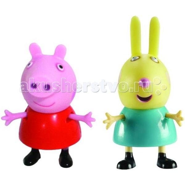 Peppa Pig Игровой набор Пеппа и РебеккаИгровой набор Пеппа и РебеккаPeppа Pig Игровой набор Пеппа и Ребекка – это отличная возможность для малышей погрузиться в мир приключений любимых персонажей.  С забавными игрушками из серии «Peppa Pig» веселые мультфильмы оживут прямо у вас дома, а малыши станут участниками увлекательных приключений Пеппы и ее друзей.  Особенности:  2 фигурки, которые могут сидеть, стоять, двигать ручками и ножками. Средняя высота фигурок – 5 см.  Игрушки изготовлены из безопасного пластика.  Товар сертифицирован.<br>