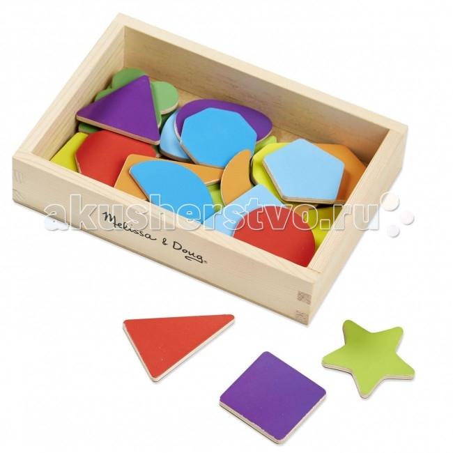 Деревянная игрушка Melissa &amp; Doug Магнитные игры Формы и цветаМагнитные игры Формы и цветаМагнитные игры Формы и цвета - помогут выучить с малышом фигуры и цвета, а главное закрепить знания используя детали, как магнитную мозаику. Из набора геометрических фигур , можно сделать домик, машинку, солнышко и многое другое.  Основные плюсы магнитного набора Формы и цвета перед многочисленными аналогами это: Крупные детали и объемные Магниты сделаны по всей фигуре, они не отрываются от деревянной основы Детали хорошо крепятся к магнитным поверхностям Игрушка выполнена из высококачественного материала Отсутствие токсичного запаха Можно использовать для игр в качестве геометрической мозаики  Игрушка изготовлена из экологически чистых, натуральных, безопасных для ребенка материалов.   Melissa & Doug - ведущий мировой производитель игрушек из натуральных материалов, прежде всего из дерева. Вся производимая продукция отличается надежностью, экологичностью и безопасностью для ребенка. Игрушки данной торговой марки предназначены не только для развлечения детей, а в первую очередь ориентированы на раннее развитие и обучение.<br>