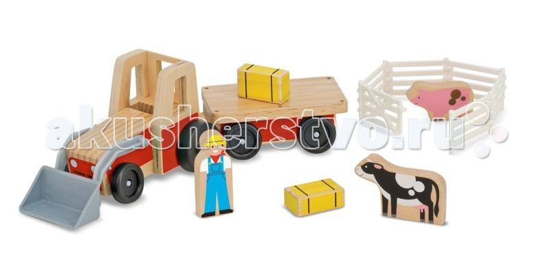 Деревянная игрушка Melissa & Doug Фермерский трактор