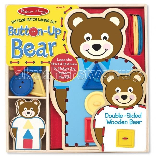 Деревянная игрушка Melissa & Doug Шнуровка-медведь