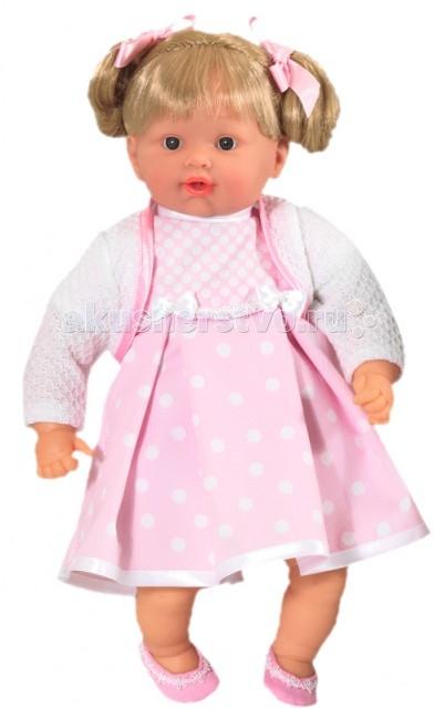 Loko Toys Кукла Baby Pink Девочка 43 см (наряд 003)Кукла Baby Pink Девочка 43 см (наряд 003)Игры с куклами способствуют эмоциональному развитию, помогают формировать воображение и художественный вкус, а также развивают в вашей малышке чувство ответственности и заботы. Такой пупс надолго увлечет девочку и подарит ей множество счастливых часов, посвященных игре с ним. Функции: 2 звука  Работает от батареек (в комплекте): 3XLR44  Изготовлено из: ПВХ, Текстиль, Полиэстер Комплектность:  1 мягконабивная кукла 43 см соска 1 шт.<br>