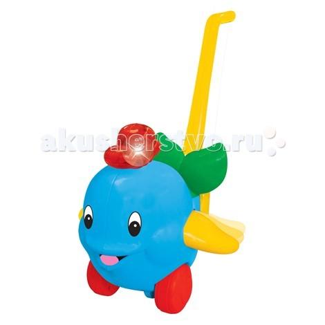 Каталка-игрушка Kiddieland с ручкой Дельфин