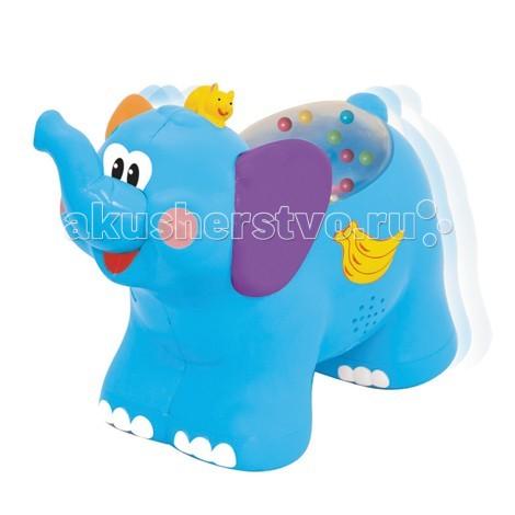 Каталка-игрушка Kiddieland Слоненок KID 051698Слоненок KID 051698Каталка-игрушка Kiddieland Слоненок KID 051698 - чтобы он двигался вперед сдвиньте слоника назад. При движении вперед в окошечке на спине прыгают разноцветные шарики,слон издает крик и звучат 2 мелодии.  При нажатии на мышку на голове слоника играет музыка.  Работает от 2 -х батареек стандарта АА 1,5V (входят в комплект).<br>