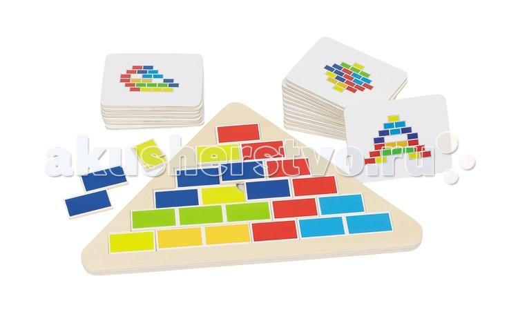 Деревянная игрушка Goki Кирпичики карточки с заданиями