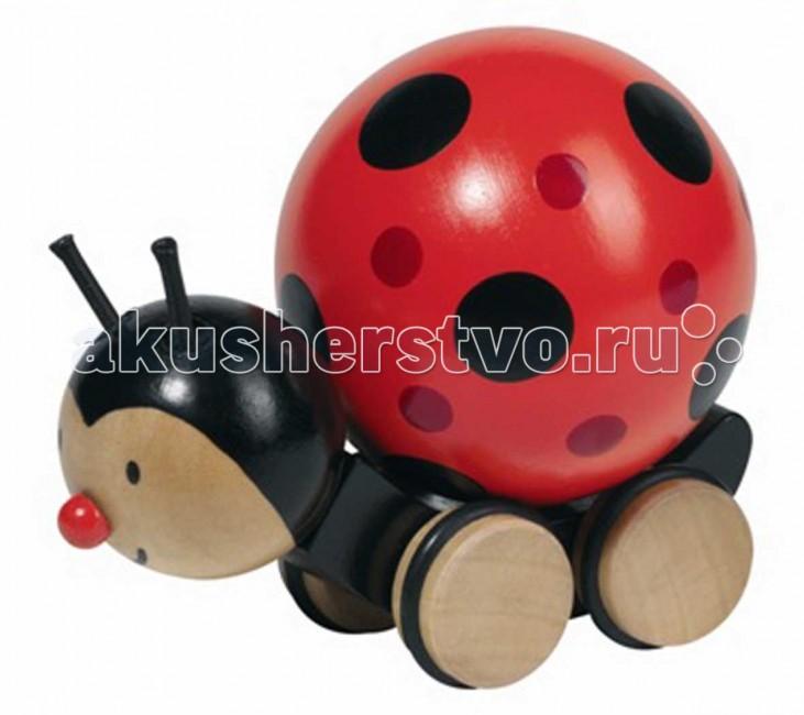 Каталка-игрушка Goki Божья коровка 54946